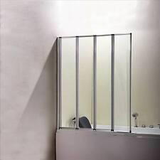 4-Fold 1000 x 1400mm Folding Shower Bath Screen