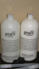 JUMBO PHILOSOPHY PURE GRACE 32 OZ HAIR SET PERFUMED CONDITIONER & GENTLE SHAMPOO