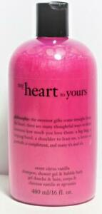 1 Philosophy MY HEART TO YOURS 3 in 1 Hair, Body Wash, Bubble Bath 16 oz  RARE