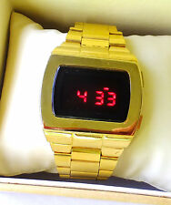 12 24hour ASTRONAUT 70s 1970s Old Vintage Style LED LCD DIGITAL Rare Retro Watch