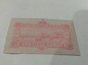 Hawaii ,#HU2c – 1884 2c Hawaii Stamped Envelope, pale pink,