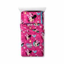 Disney Minnie Mouse 3 Piece Twin Sheet Set Microfiber Flannel Disney Junior