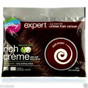 GODREJ EXPERT Rich Crème Herbal Hair Colour (40ml) DARK BROWN