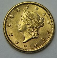 1853-P Liberty Head Gold Dollar $1 22k Old US Coin NR Free Ship W039