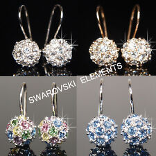8mm 18K Gold Plated Earrings made with Swarovski Crystal E408G Xmas 4 CHOICE