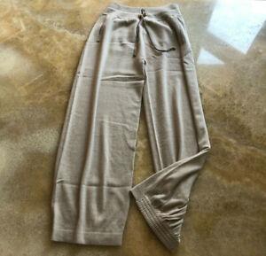 Agnona pure cashmere casual  trousers jogger, beige, size S.UK 10, IT42 RRP £930