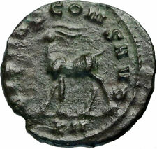 New ListingGallienus Authentic Ancient 267Ad Animal Series Genuine Roman Coin Stag i84317