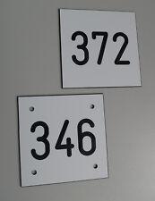 1 Stück PVC Schilder Zahlenmarken Ziffernschilder  80mm x 80mm Gravur kostenlos