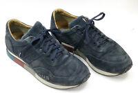 CESARE PACIOTTI men shoes sz 7 Europe 41 blue suede S6928