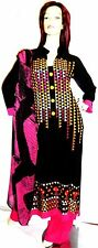 Shalwar kameez black eid pakistani indian designer salwar abaya hijab suit uk 12