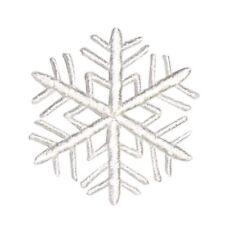ID 8137 White Snowflake Patch Christmas Winter Pattern Decor Iron-On Applique