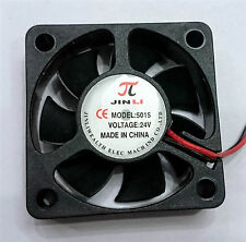 50x50x15mm 50mm DC Brushless 24V Cooling Fan For 3D Printer/CNC/DIY Projects