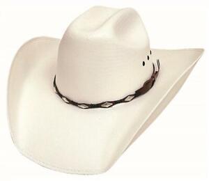 ALAMO 50X Genuine Shantung Panama Straw Western Cowboy Hat Bullhide Montecarlo