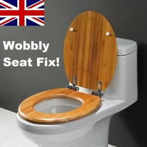 Wobbly Toilet Seat Loose Fix Kit Heavy Duty Stainless Steel Quick Fitting Kit