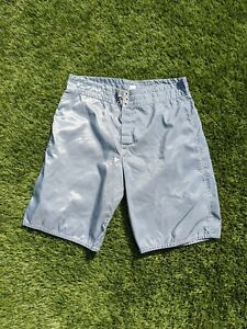 Vtg 80s Birdwell Beach Britches Board Shorts Size 36 Swimming Trunks Light Gray