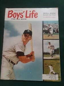 Mickey Mantle Cover Boys Life Magazine August 1959