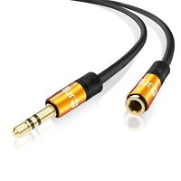 IBRA® 5m Stereo Jack Extension Cable 3.5mm Male > 3.5mm Female - Orange