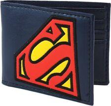 Tilted Superman Logo Bi-fold Wallet  - BRAND NEW