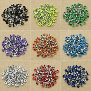 100Pcs 4mm Metal Eyelets Grommets Washers in Gunmetal Black Shoes Leather Crafts