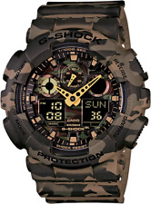 Casio G-Shock GA100CM-5A Men's Analog & Digital Woodland Camo Resin Band Watch