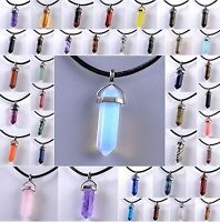 Natural Quartz Crystal Stone Point Chakra Healing Gemstone Pendants Necklace @SM