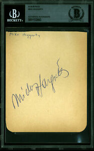 Mickey Hargitay Mr. Universe Authentic Signed 4x5 Album Page BAS Slabbed