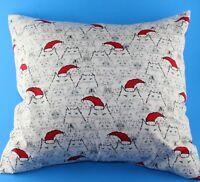 Christmas Santa Kitty Cat Decor White Red Throw Pillow Cover