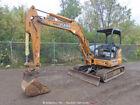 2015 Case CX55B Mini Excavator Backhoe Aux Hyd Blade Q/C Trackhoe bidadoo