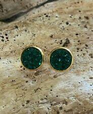 Sparkly Green Druzy Stainless Steel Posts, Fun Earrings, Mermaid Earrings