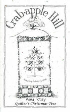 """Crab-apple Hill Studio """"Quilter's Christmas Tree"""" Embroidery Pillow Pattern #404"""