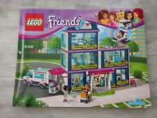 Lego Friends 41318 Heartlake Hospital Manual Instruction Book booklet ONLY!!!