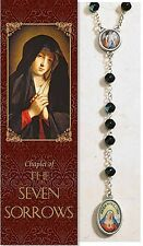 "Seven Sorrows of Mary Chaplet (PS350) (rosary) NEW 19.5"" Long W/ Pamphlet"