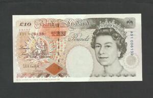 KENTFIELD  £10   A01   FIRST PREFIX    B366     BANK OF ENGLAND