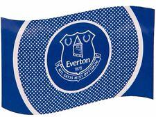 EVERTON FC TEAM CLUB BULLSEYE FOOTBALL FLAG - LICENSED EFC PRODUCT