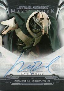 Star Wars Masterwork 2019, Matthew Wood (General Grievous) Autograph Card A-MW