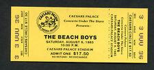 1983 Beach Boys Unused Full Concert Ticket Las Vegas Caesars Surfin Safari