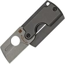 Spyderco Dog Tag Folder Generation Four Knife Gray Handle Plain Edge C188ALP