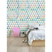 Summer Triangles removable wallpaper Geometric wall Wall Mural Simple wall decor