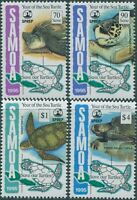 Samoa 1995 SG966-969 Year of the Sea Turtle set MNH