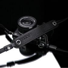 GARIZ Leather Camera Neck Strap Black/Brown for Sony Alpha LEICA FUJI OM-D LUMIX