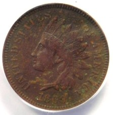 1869 Indian Cent 1C - ANACS XF45 Details (EF) - Rare Early Date Certified Penny!