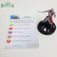 Heroclix LotR: Fellowship of the Ring set Isildur #025 Rare figure w/card!