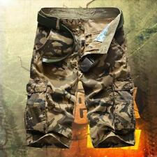 Hot Summer Mens Camo Army Combat Cargo Shorts Military Work comfy Pants Shorts #