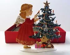 """Artist Wilhelm Schweizer German Zinnfiguren - Angel Decorating Tree (3.5""""x 3.5"""")"""