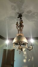 Ancien grand lustre suspension bronze et Laiton