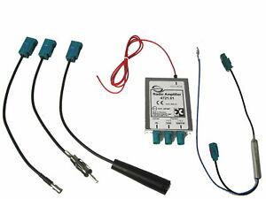 Antennen Splitter DAB+ UKW Dietz 41108 für Skoda Seat Opel Fakra Phantomspeisung