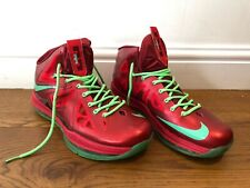Rare Nike Lebron 10 X Christmas UK 11 EU 46 - Red & Green - Used - Unboxed