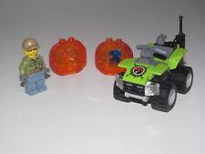 Lego ® City Minifig Figurine Explorateur Volcan + Rocher + Vehicule 4x4 NEW