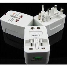 EU AU UK US To Universal World Travel AC Power Plug Convertor Adapter Socket KY
