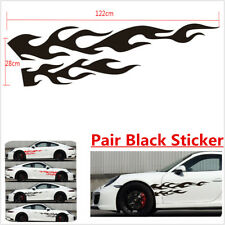large flaming body car truck Pair Flame Graphics Decal Decals
